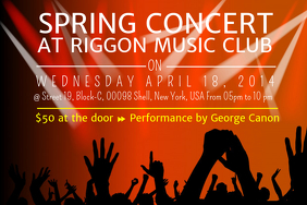 Spring Concert Poster Template