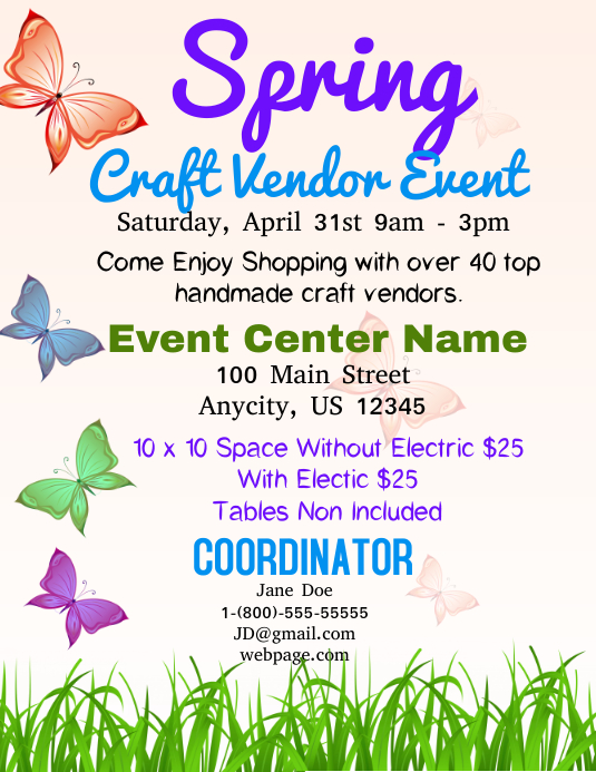 Spring Craft Vendor Event Template | PosterMyWall