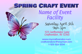 Spring Craft Event Flyer Poster template