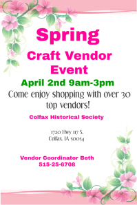 Spring Craft Vendor Event Flyer Poster template