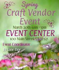Spring Craft Vendor Event Stort rektangel template