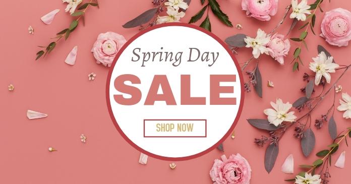Spring Day Sale delt Facebook-billede template