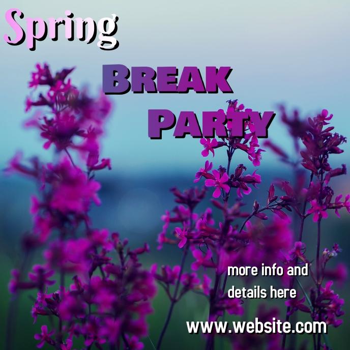 spring Pochette d'album template