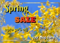 spring Cartolina template