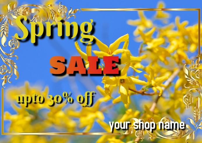 spring Postal template