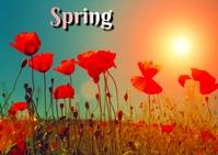 spring Postcard template
