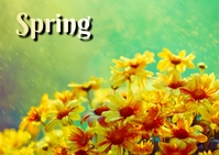 spring Postcard template