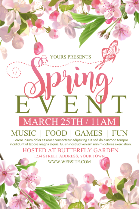 SPRING Poster template