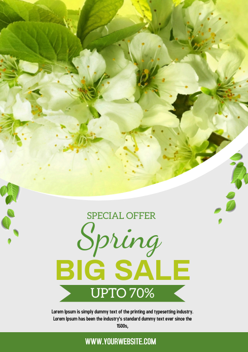SPRING A4 template