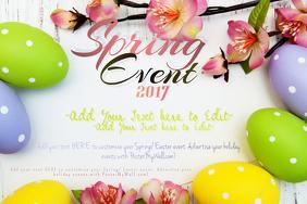 Spring Easter Egg Polka Dot Cherry Blossom Flower Paper Wood