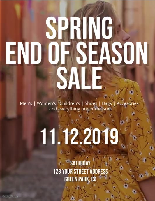 Spring End of Season Sale Flyer Template