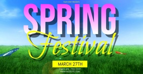 SPRING event ad social media delt Facebook-billede template