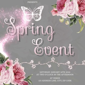 SPRING EVENT AD SOCIAL MEDIA Template Instagram Post