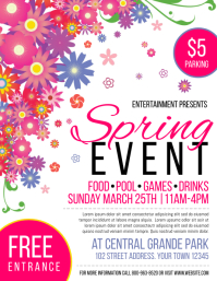 Spring Event Pamflet (Letter AS) template