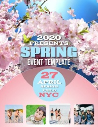 SPRING EVENT DIGITAL VIDEO Flyer Template Folheto (US Letter)
