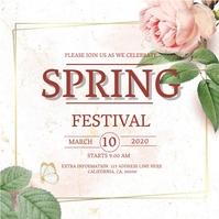 SPRING Event Flyer DIGITAL Template Instagram-opslag