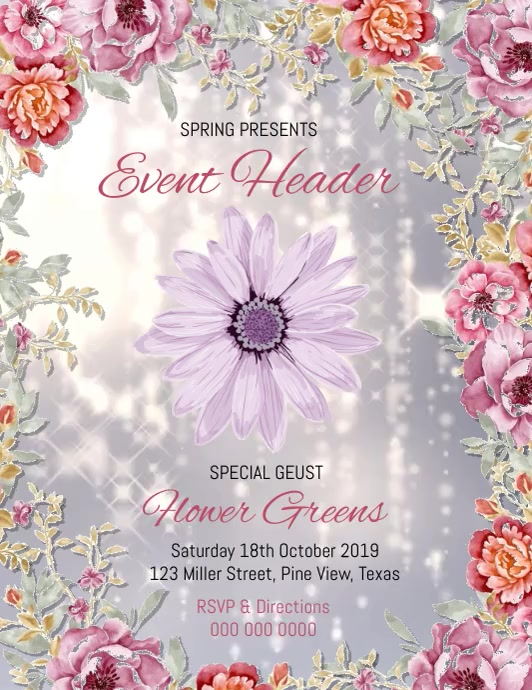 SPRING EVENT FLYER POSTER TEMPLATE