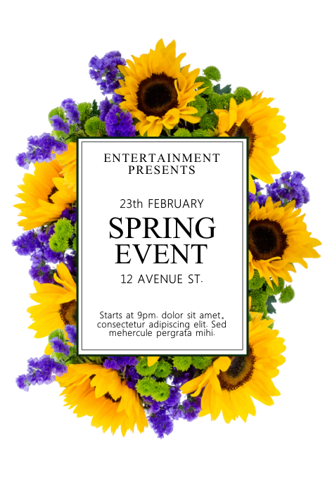Spring Event Flyer Template | PosterMyWall