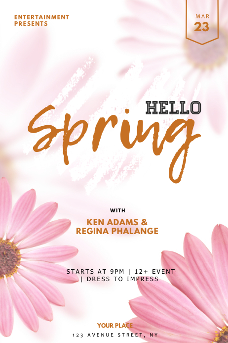 Spring Event Flyer Template Poster