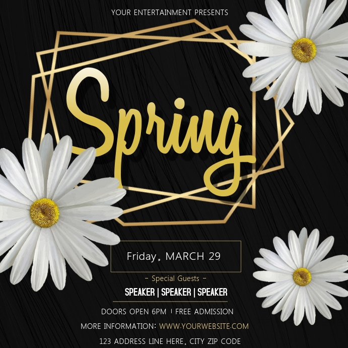 spring Event Flyer Template Square (1:1)
