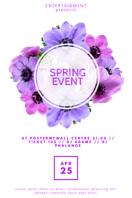 Spring Event Flyer Template for Spring