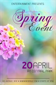 Spring Event or Mothers Day flyer template
