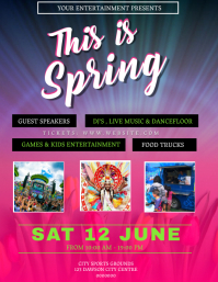 Spring Event Party Flyer Template