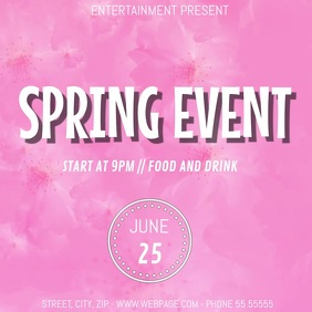 Spring Event party video flyer template