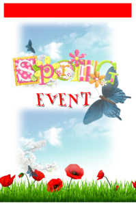 Spring event Póster template