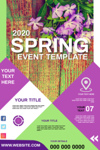 SPRING EVENT POSTER TEMPLATE Póster