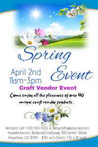 Spring Craft Vendor Event Similar Design Templates
