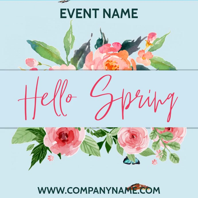 Spring Event Video Template