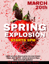 Spring explosion party Flyer (US Letter) template