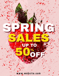 Spring explosion party sales up to 50% off Flyer (US Letter) template