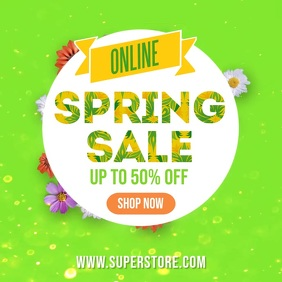 Spring facebook instagram sale video ad template
