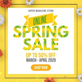 Spring facebook instagram sale video ad