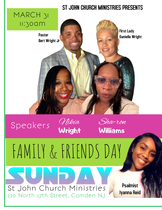 Spring Family & Friends Day Flyer Folder (US Letter) template