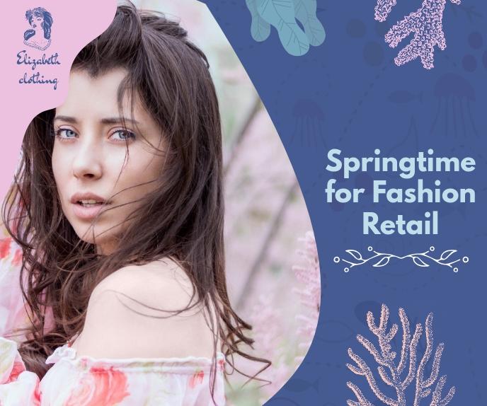 Spring Fashion Deals Online Ad Persegi Panjang Besar template