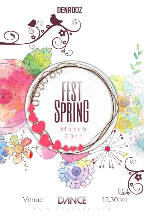 Spring fest Póster template