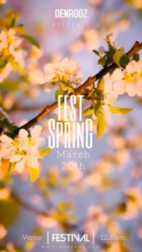 spring fest Digital Display (9:16) template