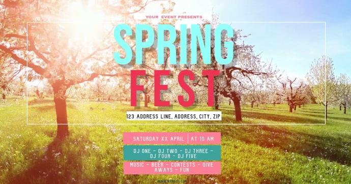 SPRING FEST Festival ad Flyer Template
