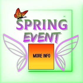SPRING fest festival ad video digital Logo template
