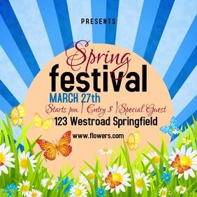 spring fest festival template