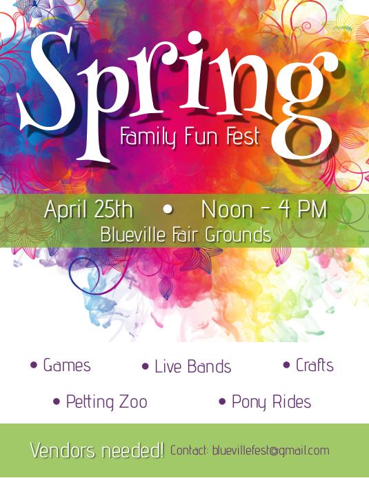 Spring Festival - 1 Flyer (US Letter) template