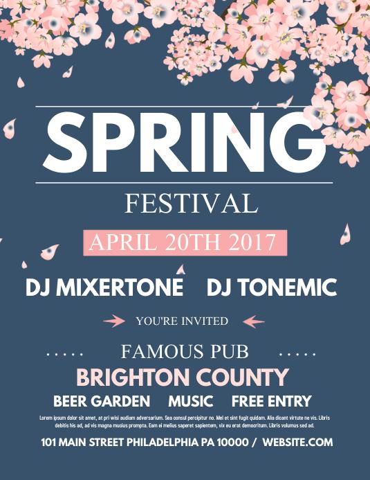Spring festival Volante (Carta US) template