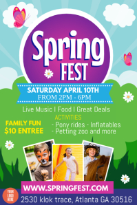 Spring Festival Affiche template