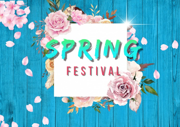 spring festival A4 template