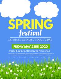 Spring festival Folder (US Letter) template