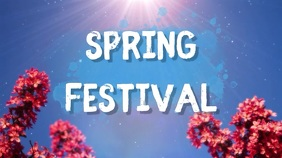 spring festival Digital Display (16:9) template