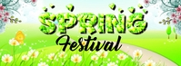 Spring Festival Facebook Cover Photo template